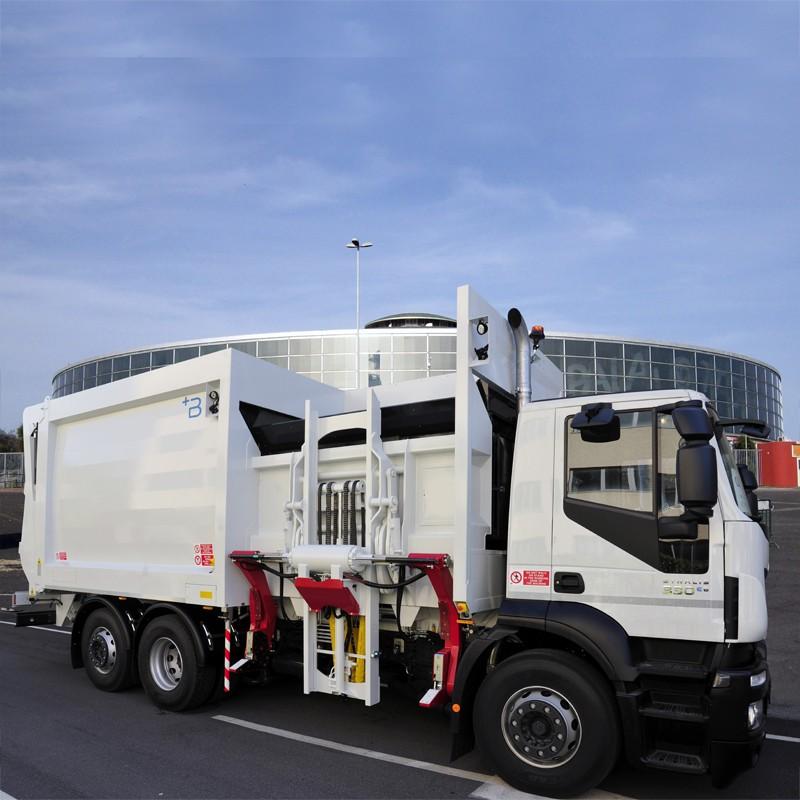 Side loader compactors
