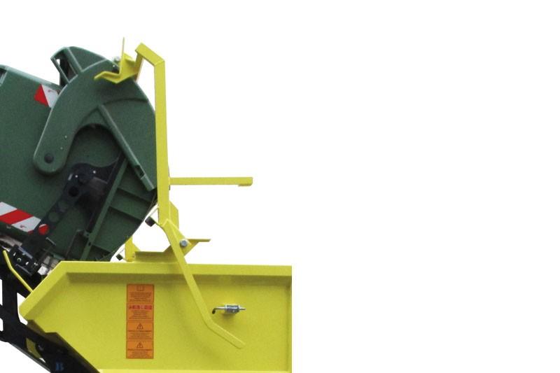 Dispositivo apri coperchio per contenitori DIN 1100 lt con coperchio basculante